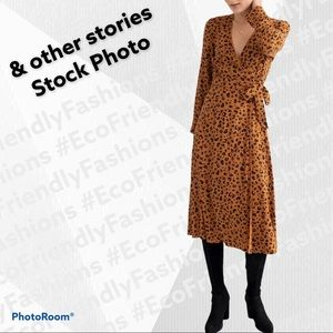 & OTHER STORIES Leopard Print Wrap Dress